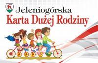 Grafika wyglądu Jeleniogórskiej Karty Dużej Rodziny - link do artykułu o JKDR